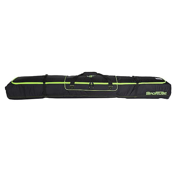 Sportube Ski Shield 2 Wheeled Ski Bag, Black-Green, 600