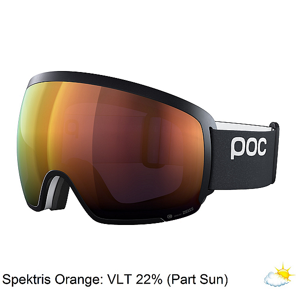 POC Orb Clarity Goggles, Uranium Black-Spektris Orange, 600