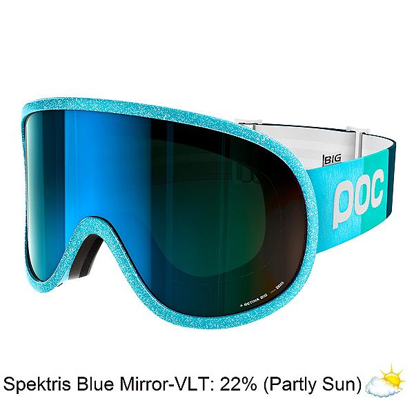 POC Retina Big Clarity Comp Womens Goggles, Julia Blue-Spektris Blue + Bonus Lens, 600