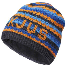 KJUS Ride Beanie Kids Hat, Kjus Orange-Atlanta Blue, 256
