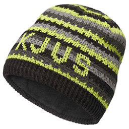 KJUS Ride Beanie Kids Hat, Lime Green-Steel Grey, 256