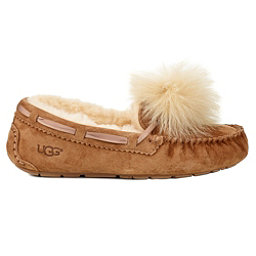UGG Dakota Pom Pom Womens Slippers, Chestnut, 256