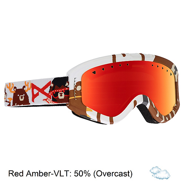 Anon Tracker Kids Goggles 2018, Da Bearz-Red Amber, 600
