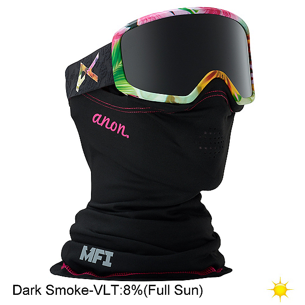 Anon Deringer MFI Womens Goggles, Black Widow-Dark Smoke, 600