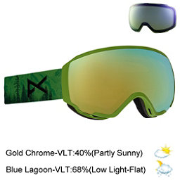 Anon WM 1 Womens Goggles 2018, Mother Nature-Gold Chrome + Bonus Lens, 256