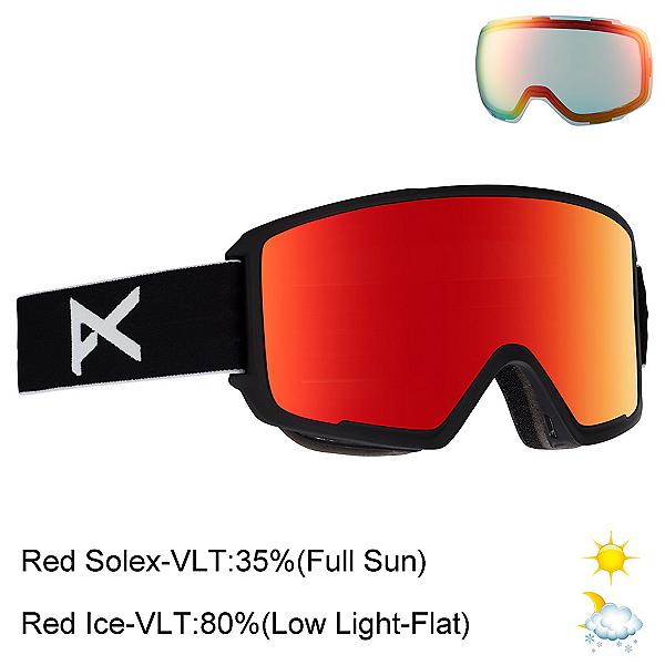 Anon M3 Goggles, Black-Red Solex + Bonus Lens, 600