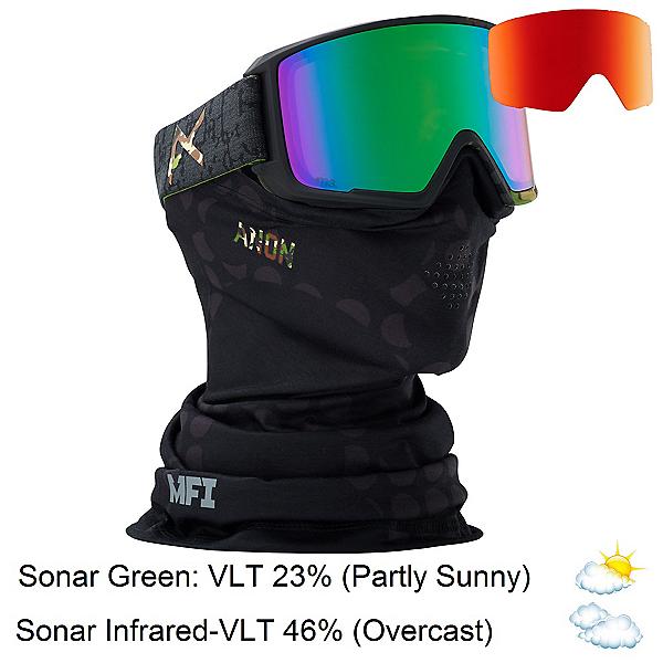 Anon M3 MFI Goggles, Circle Camo-Sonar Green + Bonus Lens, 600