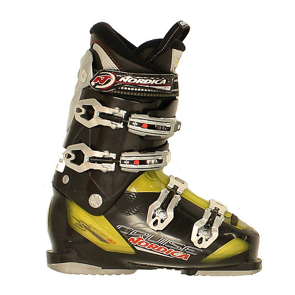 Used 2015 Mens Nordica Cruise S 80 Ski Boot Black Yellow, , 600