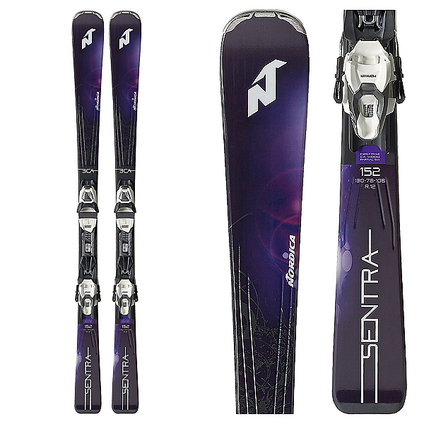 Nordica Sentra 3 Womens Skis with TLT 10 FDT Bindings 2018, , 600