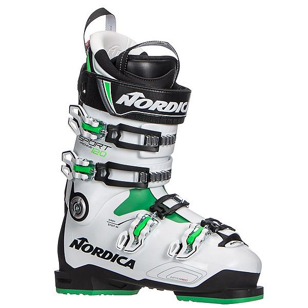 Nordica Sportmachine 120 Ski Boots, Black-White-Green, 600