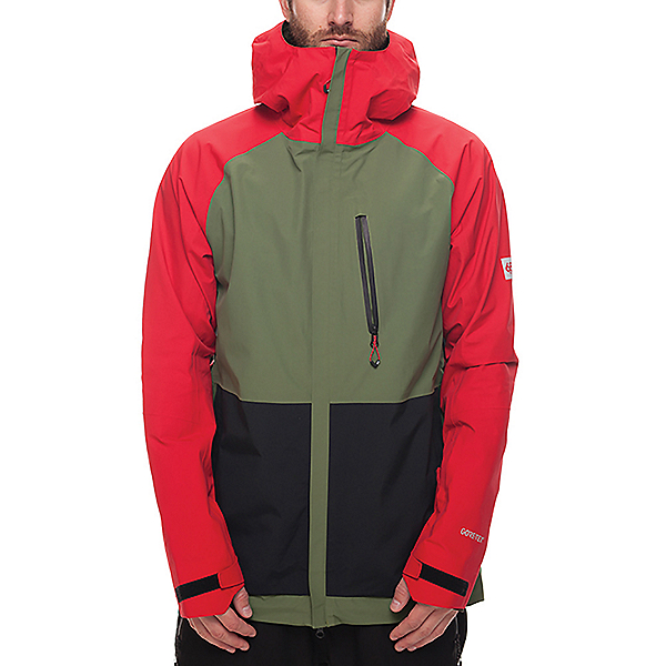 686 GLCR GORE-TEX GT Jacket, Red Colorblock, 600