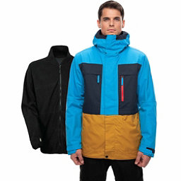 686 Smarty 3-in-1 Form Mens Insulated Snowboard Jacket, Bluebird Colorblock, 256