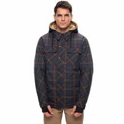 686 Woodland Mens Insulated Snowboard Jacket, Dark Denim Plaid, 256