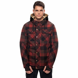 686 Woodland Mens Insulated Snowboard Jacket, Rusty Red Plaid, 256