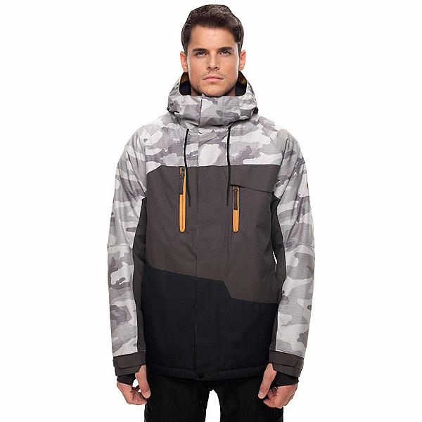 686 Geo Jacket, Grey Camo Colorblock, 600