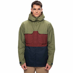 686 Moniker Mens Insulated Snowboard Jacket, Fatigue Colorblock, 256