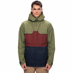 686 Moniker Mens Insulated Snowboard Jacket, Fatigue Colorblock, 256