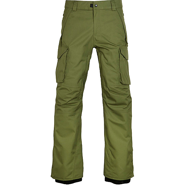 686 Infinity Insulated Cargo Mens Snowboard Pants, Fatigue, 600