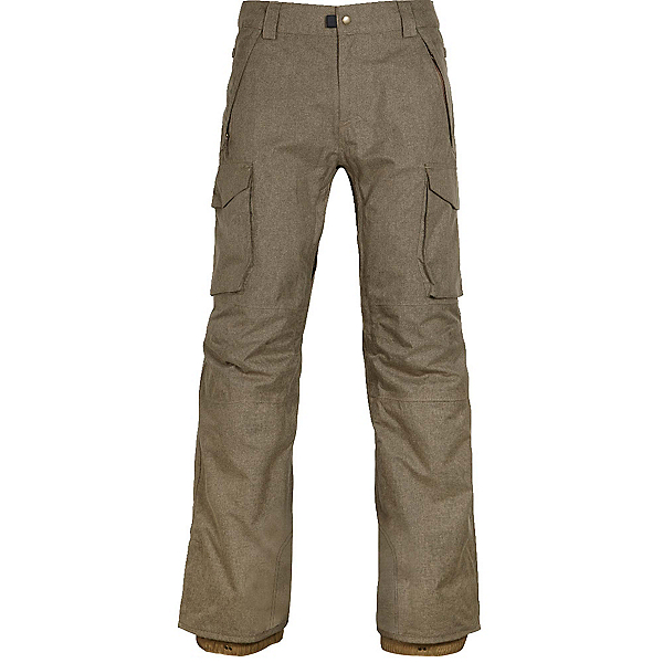 686 Infinity Insulated Cargo Mens Snowboard Pants, Khaki Melange, 600