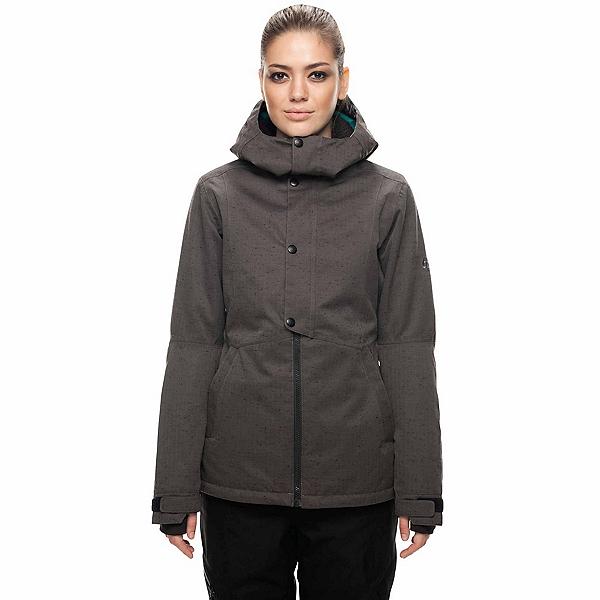 686 Rumor Womens Insulated Snowboard Jacket, Charcoal Slub, 600