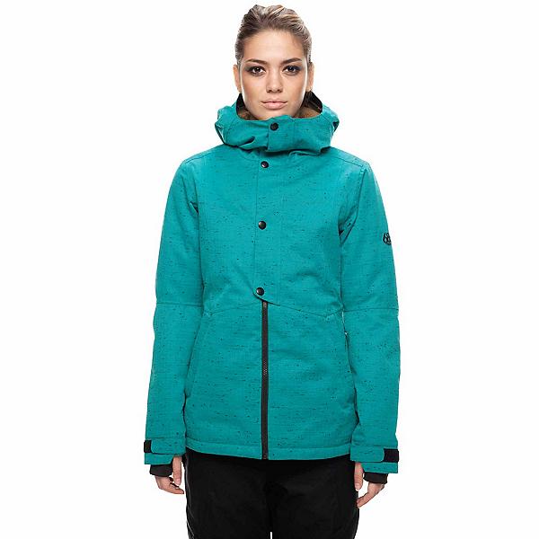 686 Rumor Womens Insulated Snowboard Jacket, Teal Slub, 600