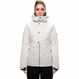 686 Rumor Womens Insulated Snowboard Jacket, White Slub, 256