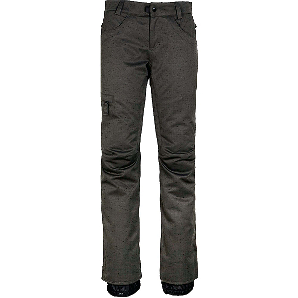686 Patron Womens Insulated Pants, Charcoal Slub, 600