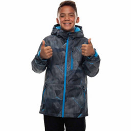 686 Jinx Insulated Boys Snowboard Jacket, Charcoal Metric Camo Print, 256