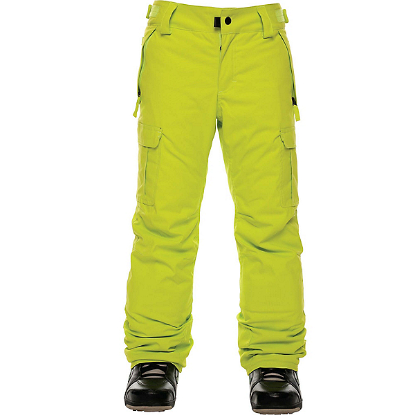 686 All Terrain Insulated Kids Snowboard Pants, Lime, 600
