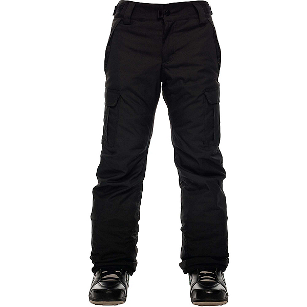 686 All Terrain Insulated Kids Snowboard Pants, Black, 600