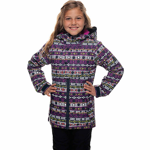 686 Belle Insulated Girls Snowboard Jacket, Nordic Print, 600