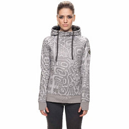 686 Cora Bonded Fleece Womens Hoodie, Grey Totem Print, 256