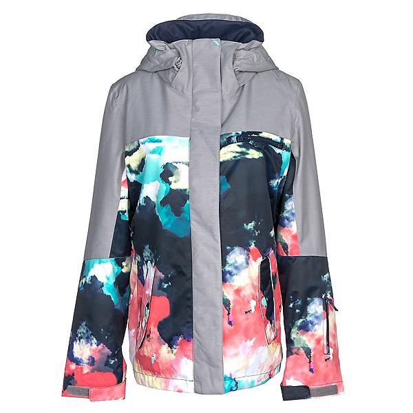 Roxy Jetty Block Womens Insulated Snowboard Jacket, Neon Grapefruit-Cloud Nine, 600