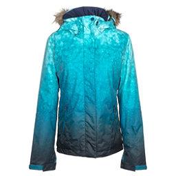 Roxy Jet Ski SE w/Faux Fur Womens Insulated Snowboard Jacket, Ink Blue-Solargradient, 256