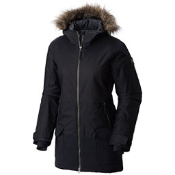 Columbia Catacomb Crest Parka w/Faux Fur Womens Insulated Ski Jacket, Black, 256