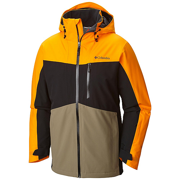 Columbia Wild Card Mens Insulated Ski Jacket, Solarize-Black, 600