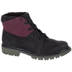Caterpillar Fret Faux Fur WP Womens Boots, Black-Wine Tasting, 256