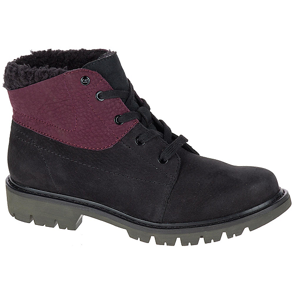 Caterpillar Fret Faux Fur WP Womens Boots, Black-Wine Tasting, 600
