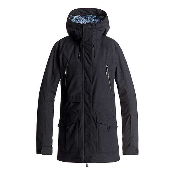 Roxy Tribe Womens Insulated Snowboard Jacket, True Black, 600