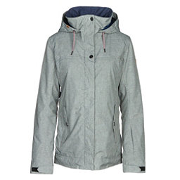 Roxy Billie Womens Insulated Snowboard Jacket, Heritage Heather, 256