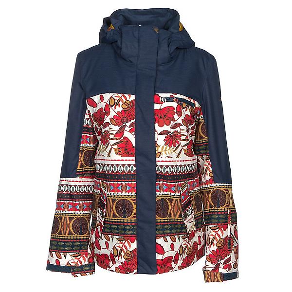 Roxy Torah Bright Jetty Womens Insulated Snowboard Jacket, Rooibos Tea-Botanic Stripes, 600