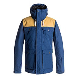Quiksilver Raft Mens Insulated Snowboard Jacket, Estate Blue, 256