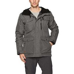 Quiksilver Raft Mens Insulated Snowboard Jacket, Dark Shadow, 256
