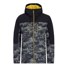 Quiksilver Mission Block Mens Insulated Snowboard Jacket, Anicamo, 256