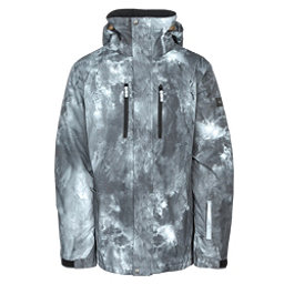 Quiksilver Mission Printed Mens Insulated Snowboard Jacket, Electric Event, 256