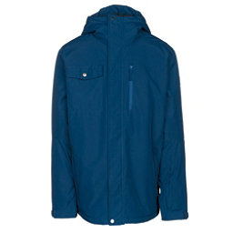 Quiksilver Mission Solid Mens Insulated Snowboard Jacket, Estate Blue, 256