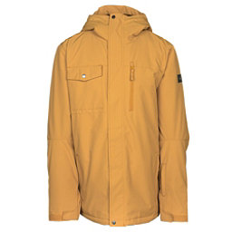 Quiksilver Mission Solid Mens Insulated Snowboard Jacket, Mustard Gold, 256