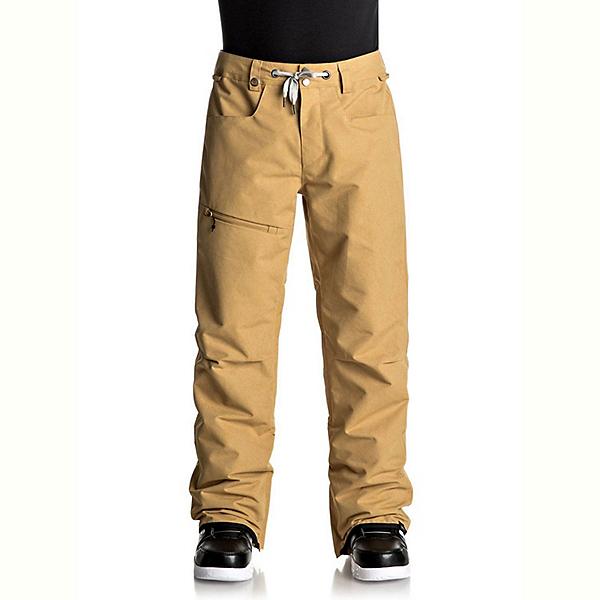 Quiksilver Forest Oak Mens Snowboard Pants, Mustard Gold, 600
