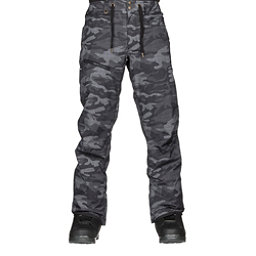 Quiksilver Forest Oak Mens Snowboard Pants, Black Grey Camokazi, 256