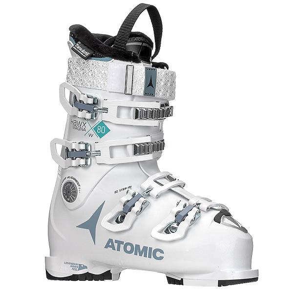 Atomic Hawx Magna 80 W Womens Ski Boots 2018, White-Denim, 600